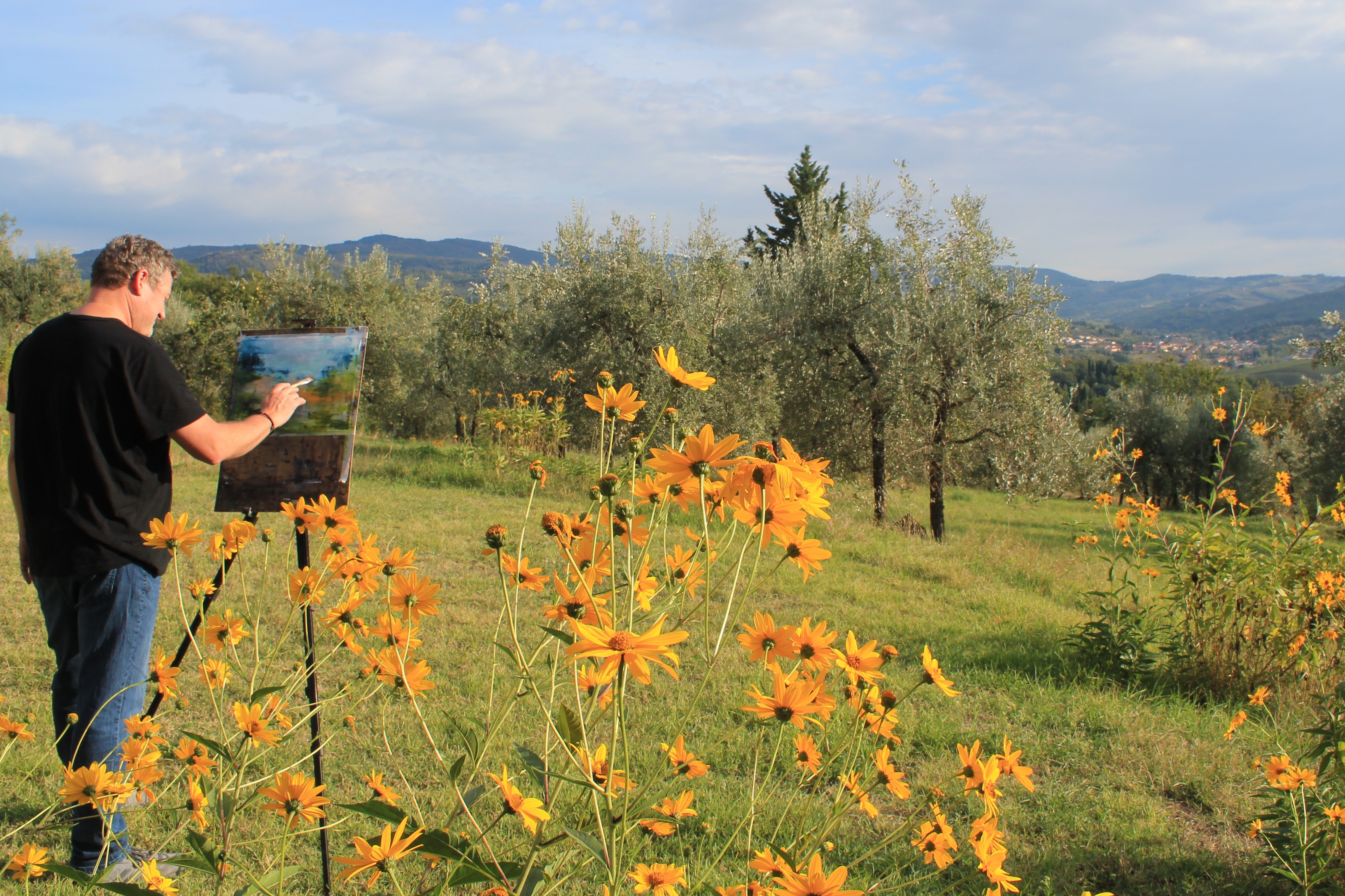 Painting Lessons and Workshop in Tuscany near Florence