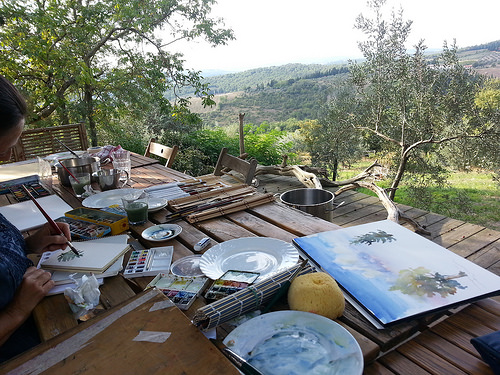 B&B Ancora del Chianti Painting Lessons and Workshop in